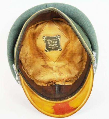 Gorra de Plato M34 de Oficial de Infanteria